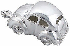 925 Silver BEETLE CAR Charm VW Beetle Herbie Car Clip On Boxed