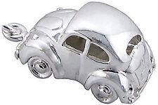 925 Argento Ciondolo Macchina Maggiolino VW Beetle Herbie Auto Clip On in Scatola