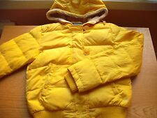 Juniors/Teens American Eagle Puffy Jacket Full-Zip w/Fur-Lined Hood Yellow Sz:S