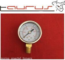 Manometro Pressione Benzina Regolatore 1/8 NPT 0-1 bar 0-15 PSI Carburatori