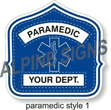 """Fire Paramedic Helmet Shield sticker - Style 1 - Custom just for You! 4.2""""x4"""""""