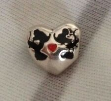 Genuino PANDORA Disney Minnie & Mickey Kiss encanto grano de plata -