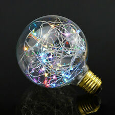 Retro Vintage Globe Starry Sky Light 2W LED Bulb Edison Colorful Lamp E27 Screw
