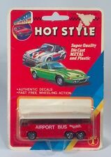 "Rare Top Speed Hot Style Airport Bus 3"" Die Cast Scale Model New On Card MCI MC8"