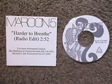 "MAROON 5 ""HARDER TO BREATHE"" UNPLAYED RADIO EDIT-OCTONE-RARE UNPLAYED PROMO CD"