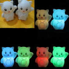 Christmas Colors Changing LED Lamp Decoration Romantic Lucky Cat Night Light