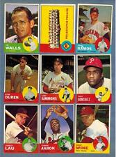 1963 TOPPS  BASEBALL EX to NRMT COMPLETE YOUR SET - U PICK ANY FIVE