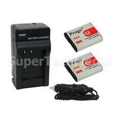 2 Battery & Charger Combo Kit for Sony NP-BG1 FG1 Cybershot DSC-W170 W120 DSC-N1