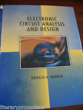 ELECTRONIC CIRCUIT ANALYSIS AND DESIGN BY DONALD A NEAMEN microelectronic HC G