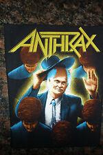 "Anthrax ""Among The Living"" COLOR Album Art Thrash Metal Band Sew On Patch"