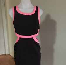 Black & pink/Candy Supre Sleveless Womens Party, Beach Dress Size Medium BNWT