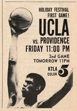 1968 Tv Basketball Ad~LEW ALCINDOR~UCLA BRUINS~LA LAKERS~KTLA~HOLIDAY FESTIVAL