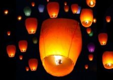 60x MIX Paper Chinese Lanterns Sky Fry Candle Lamp Wish Party Wedding