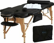 "Portable Massage Table Professional Durable Lightweight NEW 72"" Black"