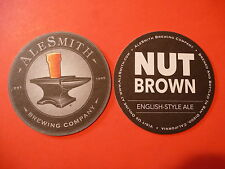 Beer Bar Coaster ~*~ ALESMITH Brewing Nut Brown English-style Ale, San Diego, CA