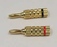 banana plugs 2 High-Quality Closed Screw Type Copper connector Speaker  #102106