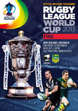 * AUSTRALIA v NEW ZEALAND - 2013 RUGBY LEAGUE WORLD CUP FINAL PROGRAMME *