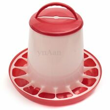 6kg Red Plastic Feeder Baby Chicken Chicks Hen Poultry Feeder Lid & Handle