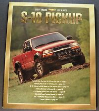 2001 Chevrolet S-10 Pickup Truck Brochure LS ZR2 Xtreme 4x4 Excellent Original