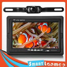"Wireless Car IR Reversing Day Night Vision Camera 7"" LCD Monitor Rear View Kit"