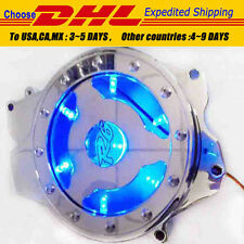 BLUE LED see through Engine Stator cover for Yamaha YZF R6 2003-2006 R6S CHROME