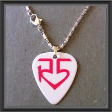 "R5 BAND-ROSS LYNCH Guitar Pick WITH 16.5"" SILVER PLATED SNAKE NECKLACE/#3"