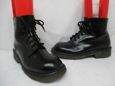 Dr Martens Black Patent Leather Ankle Boots Size 9 UK 10 US Made in England