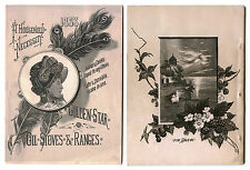 1883 HOUSEHOLD NECESSITY Golden Star Oil Stoves Ranges Catalog Myers & Osborn Co
