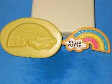 Rainbow Clouds Hello kitty Silicone Push Mold A411 Chocolate Soap Resin Wax