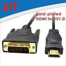 4X 6FT 24+1 HDMI To DVI Male Cable Mutual DVI-D Male to HDMI Convert for HDTV HD