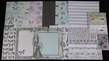 """Kaisercraft 'BONJOUR' 12x12"""" Paper Kit/Pack Shabby Chic/Paris *NEW* KAISER"""