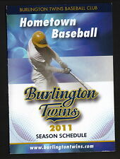 2011 Burlington Twins Schedule