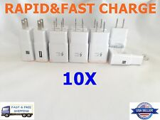 10X LOT ADAPTIVE FAST CHARGING WALL CHARGER ADAPTER FOR SAMSUNG S6/7 NOTE 4/5