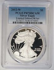 2012-W $1 Silver Eagle Limited Edition Proof Set PCGS PR70DCAM POP 40 Coins