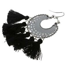 Women's Elegant Fashion Jewelry Bohemia Black Tassels Dangle Earring Ear Ring