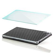 Schutz Glas + Handy Hülle für Sony Xperia Z5 Cover Case Schutz Tasche Schwarz
