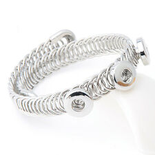 New Chunk Punk Metal Bangle bracelets drill fit for Noosa Snaps Charm Button A10
