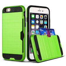 Ultra Slim With ID Credit Card Holder Case Cover For iPhone 5 5S SE 6 6S Plus