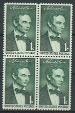 US 1958 Sc# 1113 Lincoln block 4 MNH by George Healy