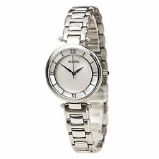 Bulova Ladies Mother of Pearl Bracelet Watch 96L185 #560