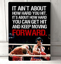 Rocky Balboa vs Ivan Drago Boxing inspirational film quote A4 Metal sign