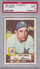 1983 Topps 1952 Reprint #191 YOGI BERRA PSA 9 MINT New York YANKEES