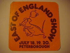 Beer Coaster: COUNTY Ale, ENGLAND ~ Visit the Peterborough Horse, Navy, Art Show