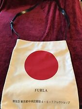 LIMITED EDITION FURLA Japan Flagship Collection Canvas/Leather Tote Shopper RARE