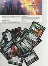 Star Trek customizable Card Game ccg Blaze of Glory tarjetas individuales selección Select
