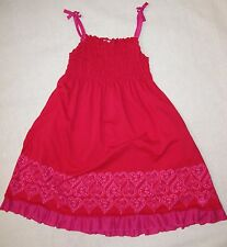American Girl sz 12 PRETTY PARTY Pink Hearts DRESS ruffle smocked Valentines day