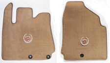 NEW! Tan Floor Mats 2010-2016 Cadillac SRX Official Crest Logo in Silver Pair