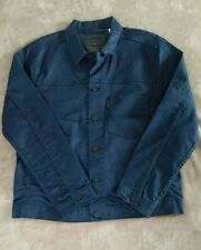 Levis Line 8 Mens Commuter Coated Denim Jean Jacket NEW Navy size 2XL XXL NWT