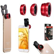 3 in1 FishEye Wide Angle Macro Telephoto Lens Camera for iPhone 6 PLUS 5 5S 5C +