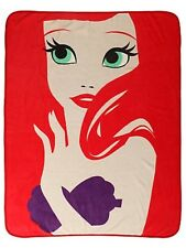 Disney Ariel The Little Mermaid Minimalist Super Plush Throw Blanket Gift NWT!